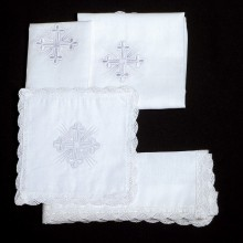 SERVUS - LAVABO TOWEL (MANUTERGI) with embroidered cross